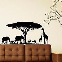 Customwallsdesign Safari Wall Decal- Animal Wall Decal Stickers Safari Nursery Decor