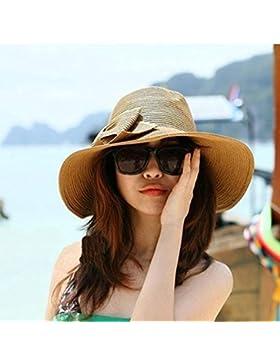 waygo de Bohemia verano Sun Floppy Sombrero Paja Playa Amplia Grande Ala Cap
