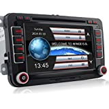 "A-Sure 7"" Zoll 2 Din Bluetooth FM Full 3D Map 3G DAB+ Autoradio OBD TMC Navi DVD GPS Radio RDS Für VW Passat Golf 5 6 Touran Tiguan Transporter Multivan T5 Polo Jetta Caddy Skoda Seat Altea"