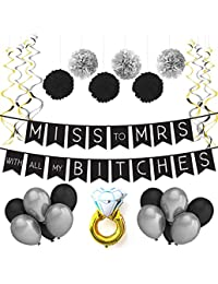 James Co. Black Sterling Silver Engagement Wedding Decoration Set–Hen Night Gift, Accessories, Accessories
