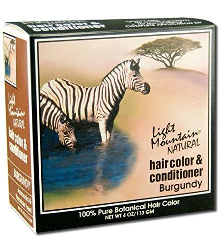 Naturel Couleur des cheveux Conditioner, Bourgogne 4 oz (113 g) - Montagne Lumière