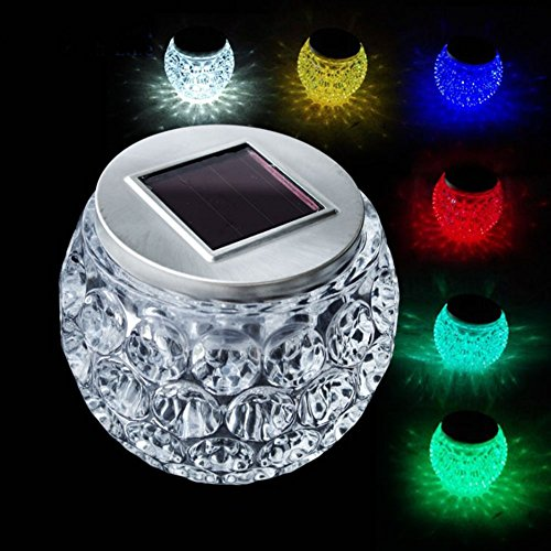 Mosaic Night Light, EONANT Mosaic Solar Lights Color Changing Mosaic Solar Glass Garden Lights Waterproof for Outdoor Decorations