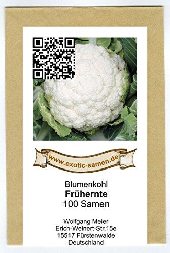 Blumenkohl - Frühernte - 100 Samen