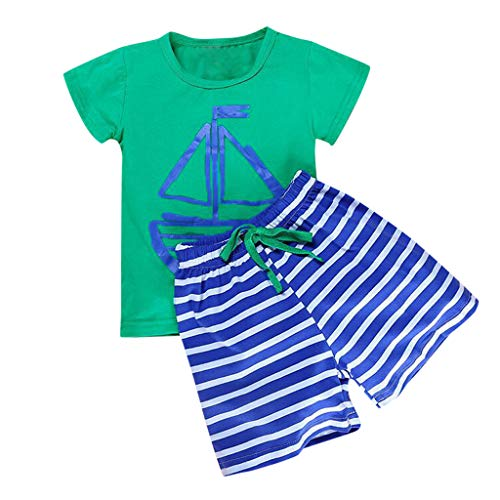 Butterfly Bio-kinder-t-shirt (Alwayswin Baby Jungen Kurzarm Navy Top Gestreifte Shorts Zweiteiliges Set Ärmellos Top Cartoon Pommes-Frites-Muster T-Shirt Freizeit Sport Shorts Sommer Outdoor Baby-Outfits)