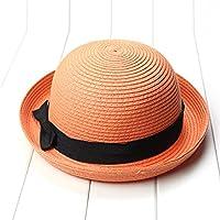 BESTOYARD Bowknot Roll up Wide Brim Dome Straw Summer Sun Hat Gorra de Playa de Bowler