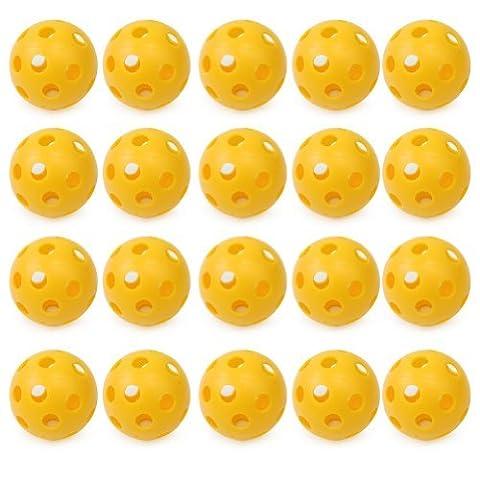 Pinzhi® Pop 20 Pcs Plastic Hollow Perforated Golf Tennis Practice Training Sports Balls