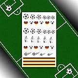 Fußball für Fingernägel - Fußball-WM/EM Nail Art