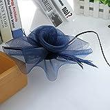 EOZY Damen Mini Hut Fascinator Hut Blumen Haarschmuck Dunkelblau Vergleich