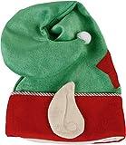 MiTo < Ultimative, stehende Weihnachtsmütze / Wichtelmütze mit Ohren - Höhe 66 cm - grün - OneSize