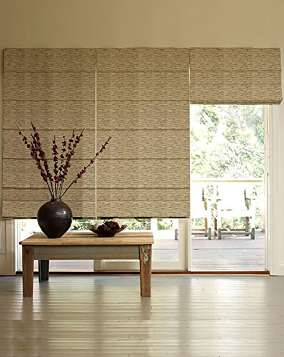 PRESTO BAZAAR 1 Piece Polyester Geometrical Blind - Gold