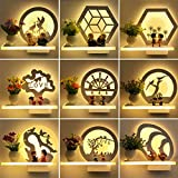 Wandleuchte Schlafzimmer Nachttischlampe moderne LED Wandleuchte, weißes Licht, Blume Büsche 15W