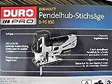Stichsäge -Pendelhub DURO PRO / D-PS 850 mit Zübehör Neu