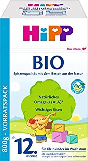 HiPP Bio Kindermilch, ab dem 12. Monat, 4er Pack (4 x 800 g) - Bio (B007X2CL6E) | Amazon Products