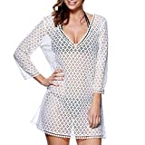 Caftan tunique de plage Summer Days blanc