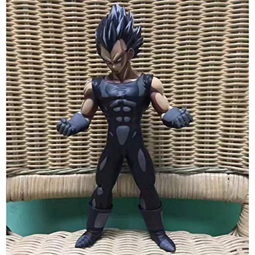 LLKOZZ Dragon Ball Anime Estatua Negro Comic Color Vegeta Modelo de Juguete PVC Exquisito Anime Decoración Colección -11in Juguete