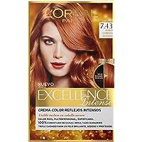 L'Oréal Paris  Excellence Intense Tinte Permanente Coloración Rubio Cobrizo Dorado 7.43