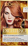 L'Oréal Paris Excellence Intense Tinte Permanente Coloración Rubio Cobrizo Dorado 7.43