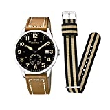 Festina Herren Analog Quarz Uhr mit Leder Armband F20347/6