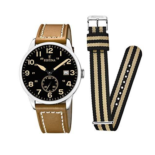 Festina Unisex Adult Analogue Classic Quartz Watch with Leather Strap F20347/6