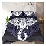 CSYPYLE Bettwäsche-Sets Kreative Tier Elefant Muster Schlafzimmer Bettbezug Bettlaken Kissenbezüge Set, 180 cm X 210 cm