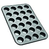 Zenker Mini-Muffinform 24er Backblech (Ø 4,5 cm), für saftige mini Muffins & Cupcakes, Muffinblech, flach & antihaft-beschichtet, Maße: 38,5 x 26,5 x 2 cm