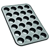 Zenker Black Metallic Stampo per 24 Muffin, Acciaio, Nero