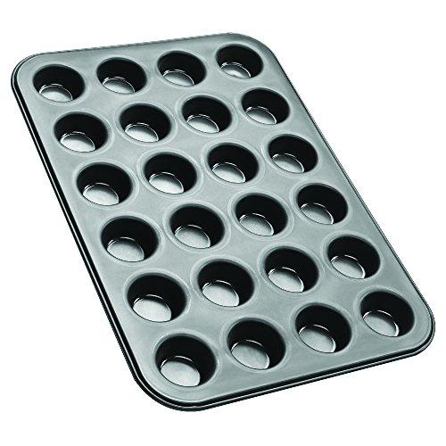 Zenker Mini-Muffinform 24er Backblech (Ø 4,5 cm), für saftige mini Muffins & Cupcakes, Muffinblech, flach & antihaft-beschichtet, Maße: 38,5 x 26,5 x 2 cm -