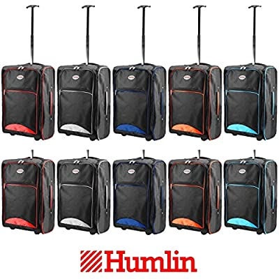 Humlin Branded Cabin Bag Hand Luggage Bags Trolley Wheeled Baggage Ryanair Easyjet Hmbag07