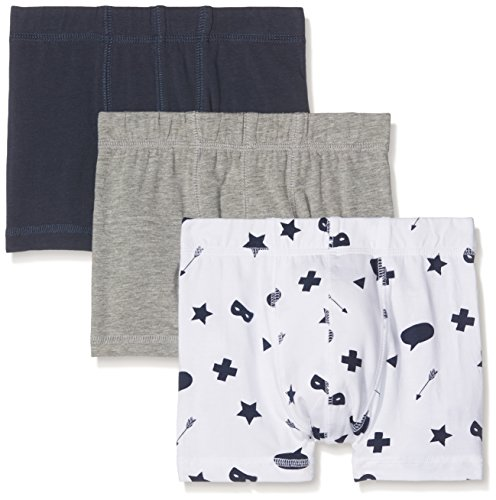 NAME IT Jungen Boxershorts Nkmtights 3P Grey Mel Noos, 3er Pack, Mehrfarbig (Grey Melange), 116
