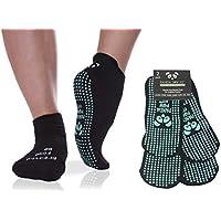 Le migliori calze antiscivolo di lusso per lo Yoga e Pilates  Bikram   HOT Yoga   Ashtanga  pavimenti scivolosi  Ospedale di riabilitazione  Traspirante Trazione aderente e igienica  Calze con arco adesivo per la stabilità