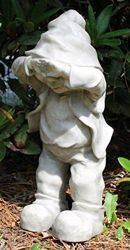 Dekofigur Wichtel Gnom Granit look Gartenfigur 32 cm Gartenzwerg Gartendekoration - 7