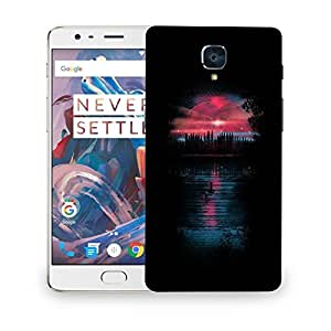 Snoogg Alone Boat In Sea Designer Protective Back Case Cover For ONEPLUS THREE