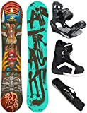 AIRTRACKS SNOWBOARD SET - BOARD RED LIPS 159 - SOFTBINDUNG