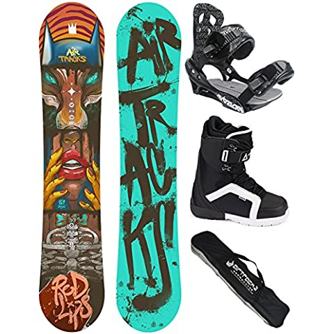 AIRTRACKS SNOWBOARD SET - TABLA RED LIPS WIDE (HOMBRE) 152 - FIJACIONES SAVAGE - BOTAS STRONG 41 - SB BOLSA/