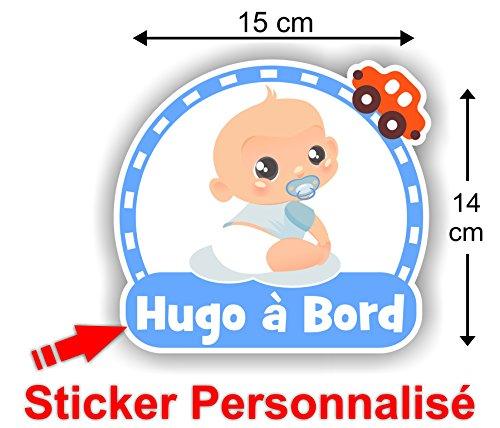 Sticker Bébé à Bord Personnalisé au prénom de votre enfant