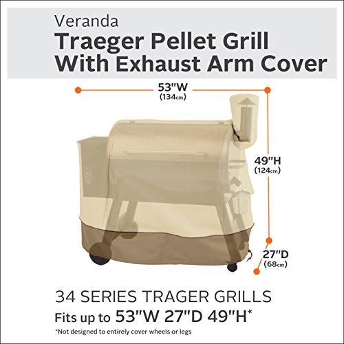 Classic Accessories 55-919-011501-00 Veranda 34 Serie Traeger Pelletgrill mit Auspuffarmabdeckung
