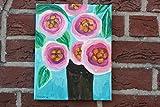 Blumenbild, Acryl auf Leinwand, 30/24cm