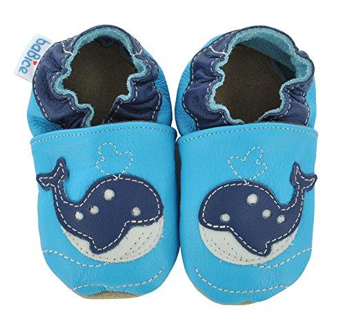 baBice , Chaussures souple pour bébé (garçon) türkis 26/27 (30-36 Monate) türkis