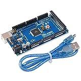 Elegoo MEGA 2560 R3 Board ATmega2560 ATMEGA16U2 + Cavo USB Compatibile con Arduino Blue immagine