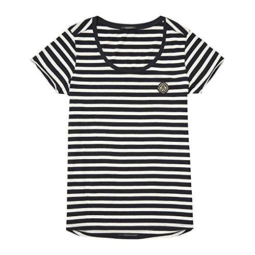 Scotch & Soda Maison Damen T-Shirt S/s Tee in Many Stripes_138543, Mehrfarbig (Combo B 18), X-Small