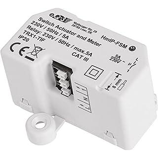 Homematic IP Smart Home Schalt-Mess-Aktor - Unterputz, schaltet Geräte auch per App oder per Sprachbefehl über Amazon Alexa, 142721A0