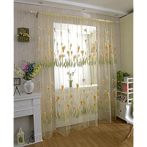 Calla fiore leggero chiffon di seta schermo della finestra anelastica
