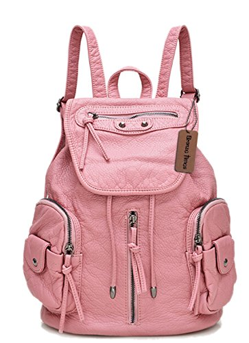 bronze-times-tm-vintage-pu-leather-large-capacity-school-college-backpack-pink