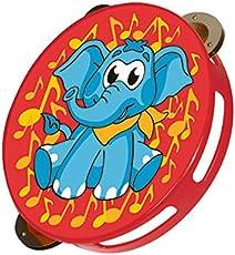 Simba My Music World Plastic Tambourine Elephant Version, Red