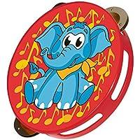 Simba Toys Plastic My Music World Tambourine Elephant Version (Red)