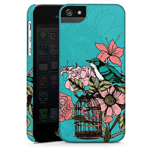 Apple iPhone X Silikon Hülle Case Schutzhülle Vogel Blumen Käfig Premium Case StandUp