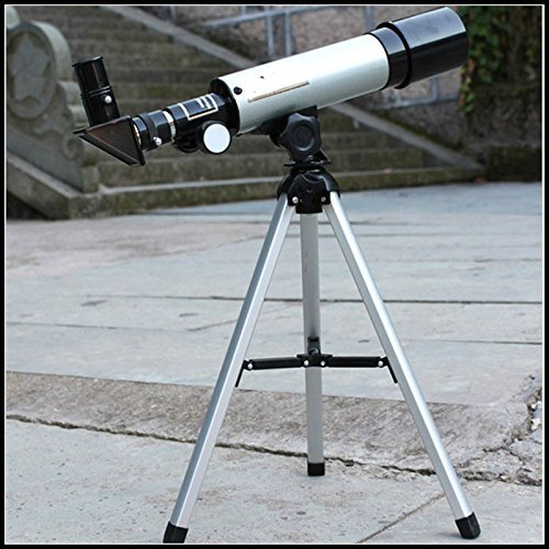Stvin Land & Sky Telescope - Optical Glass & Metal Tube Refractor Telescope (90X Power) With Free TRIPOD & 2 EYEPIECES
