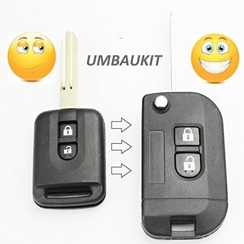 Ersatz Schlüssel Gehäuse Button Auto Schlüssel Klappschlüssel mit Rohling Fernbedienung Radio Frequenz Schlüssel Gehäuse ohne INION® Elektronik