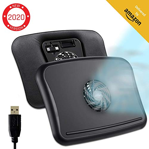 """KLIM Comfort + Laptop-Kühler + Schütze Dich und Deinen Laptop vor Überhitzung + NEU 2020 + Hochwertiges leises Kühlkissen 10\"""" - 15,6\"""" + Stabil auf Deinem Schoß + leiser Ventilator"""