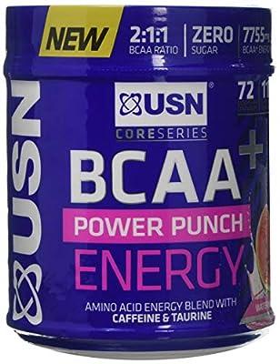 USN Bcaa Power Punch + Energy, Amino Acid Energy Blend with Caffeine and Taurine